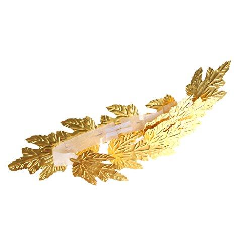 [MagiDeal Gold Leaf Roman Greek Goddess Laurel Wreath Fancy Dress Costume Headband] (Roman Goddess Accessories)