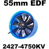 Mystery EDF Plus HL5508 2427-4750KV Brushless Motor 55mm EDF Ducted Fan Power System