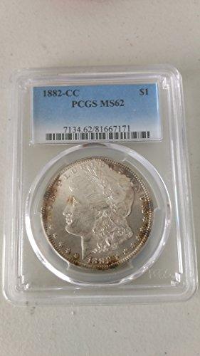 1882 CC Morgan Dollar $1 MS62 PCGS