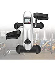 Greensen Mini Exercise Bike, Portable Pedal Exerciser Under Desk Pedal Bike with LCD Display, Home Fitness Leg Arm Training Cycle Bike Resistance Exercise Equipment for Home Office
