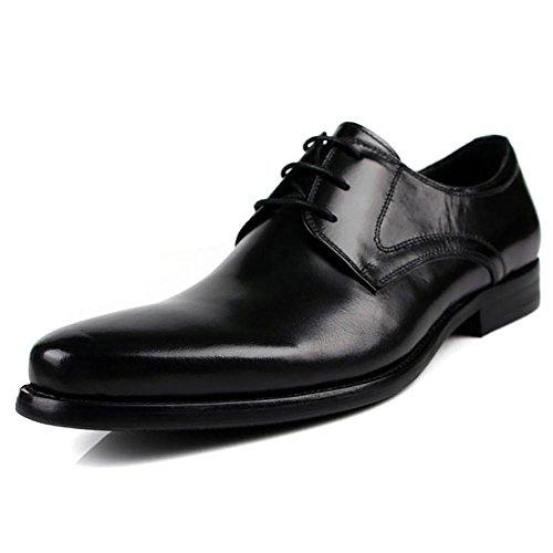 Herren britische Echtleder Tops Dress Up Pack Wingtip Oxford , black , 44