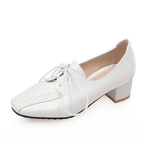 1TO9 - Zapatos de vestir para mujer, color blanco, talla 43 EU