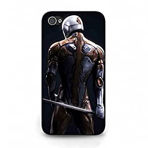 Cover Shell Cool Robot Gray Fox Game Metal Gear Solid Phone Case Cover for Iphone 4 4s Metal Gear Famous