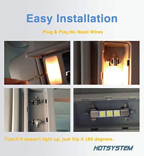 Hotsystem 29mm Fuse Festoon Sun Visor Vanity Mirror Led Light Bulbs Dc12v 5050 3smd 6614f Ts 14v1cp Interior Replacement Lights For Car White Pack 10 Formtech Inc Com
