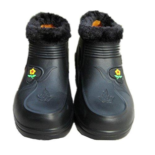 Anbover Womens Winter Garden Boots Caldo Chef Scarpe Casual Funzionanti Mocassini Piatti Rossi