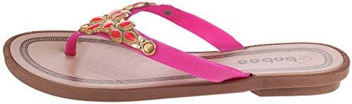 Sandalo Infradito Piatto Infradito In Pelle Di Strass Enimay 132   Rosa