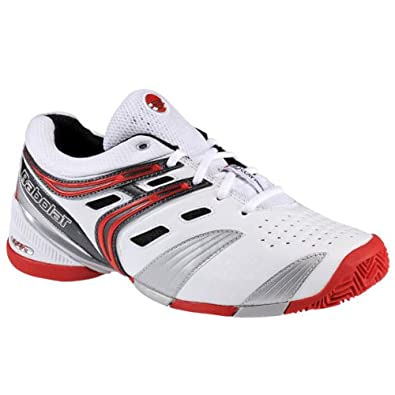 Babolat 30s1302 pour homme V-Pro 2 Clay M Whitet/rouge Chaussures de tennis - - Whitet/Red h2mgCt,