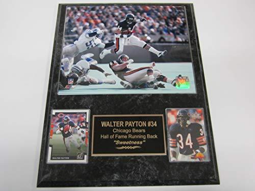 Bears Walter Payton 2 Card Collector Plaque #2