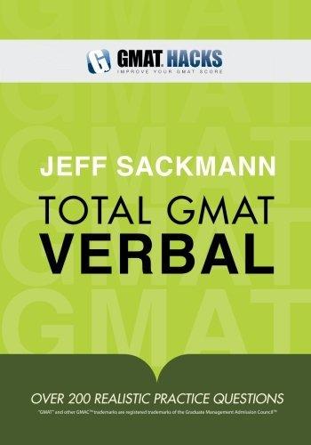 Total GMAT Verbal by Jeff Sackmann (2011-05-04)