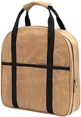 Waxed Canvas Cable Bag, Multifunctional Repair Bag, Heavy Duty, Waterproof Khaki
