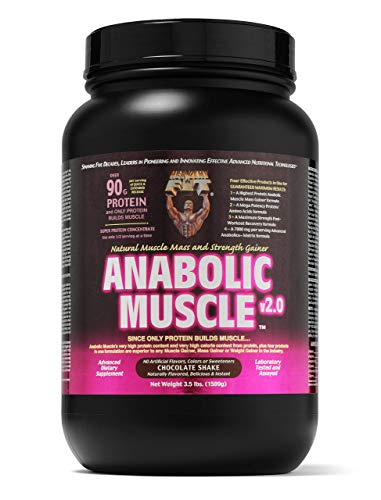 Healthy 'N Fit Anabolic Muscle (Chocolate) 3.5 lb - Natural Muscle Mass and Strength Gainer