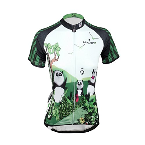 QinYing Panda Printing Short Sleeve Bicycle Cycling Jersey For Women ... c02f774c2