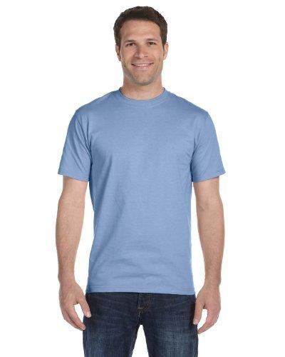 Cycling Light T-shirt - Hanes 5280 Men's Comfortsoft Tee btghg, 2 Gold / 2 Light Blue, XXX-Large