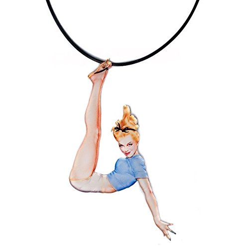 Pin Up Girl Charlie Quinn Lucite Necklace Choker from Erstwilder Resin Jewelry