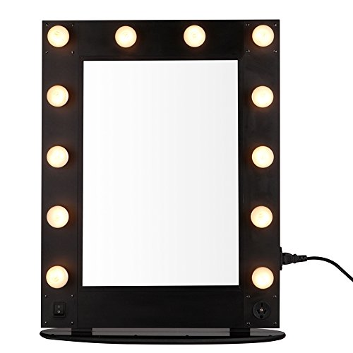 hollywood vanity makeup mirror 12 led bulb lights professional artist stage mirror broadway. Black Bedroom Furniture Sets. Home Design Ideas