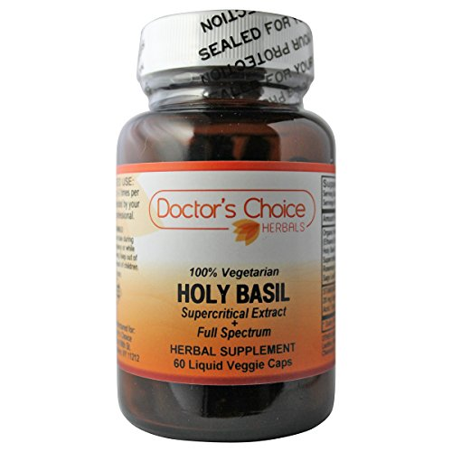 Doctor's Choice Holy Basil Herbal Supplement with Organic Holy Basil Leaf, Holy basil Leaf, Rosemary Leaf Extract and Sage Leaf Extract, 60 Liquid Veggie Caps, Kosher – PREMIUM QUALITY – (Rosemary Leaf Liquid)