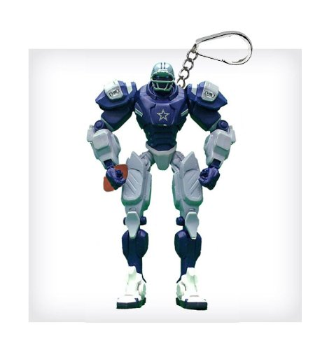 "Dallas Cowboys 3"" Team Cleatus FOX Robot NFL Football Key Chain Version 2.0"