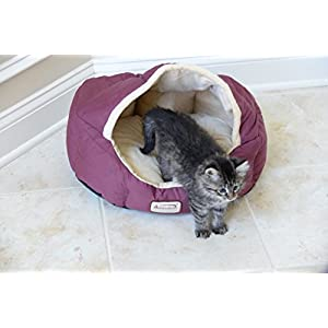 Armarkat Cat Bed 18-Inch Long C08HJH/MH, Burgundy and Beige