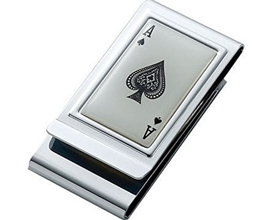 (Personalized Ace of Spades Money Clip Engraved Free)