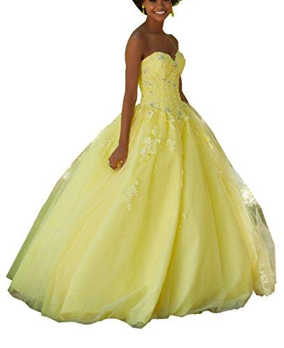 ffbbe1c292975 Eldecey Womens Applique Length Quinceanera. Review - Eldecey Women s Lace  Applique Floor Length Tulle Ball Gown Quinceanera Dress