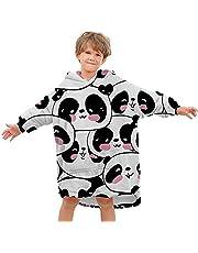 GEGCVN Rainbow Wearable Blanket Hoodies Kids Oversized Sherpa Hoodies Blanket with Sleeves Hooded Blanket Sweatshirt for Boys