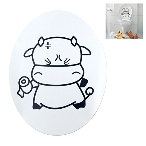 TOOGOO(R) Sweet Cow Toilet Seat Cover Decal Sticker by TOOGOO(R) (Image #2)