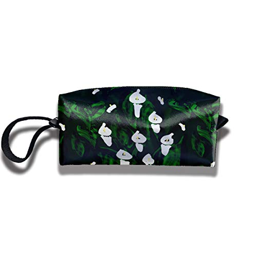 YyTiin Calla Lilies Portable Receiving Bag Make-up Cosmetic Bag Multi-Function Bag Sewing Kit Stationery Bags