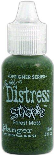 Ranger TDS-28925 Tim Holtz Designer Series Distress Stickles Glitter Glue, Forest Moss, 0.5-Ounce