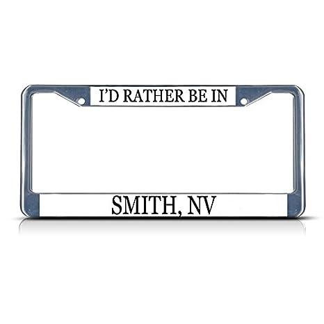I/'D Rather Be In Las Vegas License Plate Frame Tag Holder