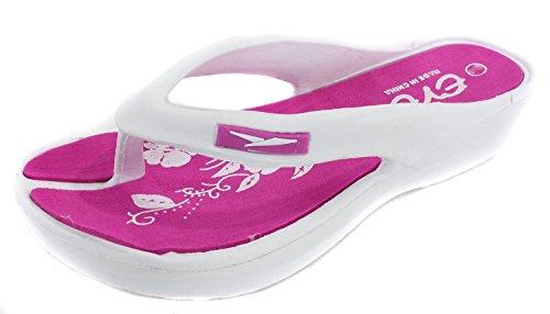 Eve Kvinna Bekväm Flip Flops Kil Sandaler (7, Rosa)