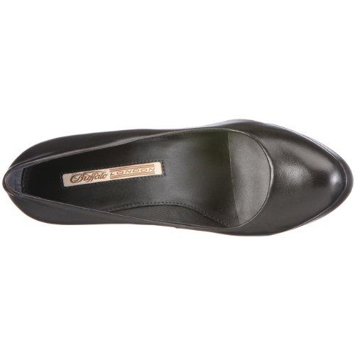 Buffalo London 16153-710 NAPPA 109469 - Zapatos de vestir de cuero para mujer Negro