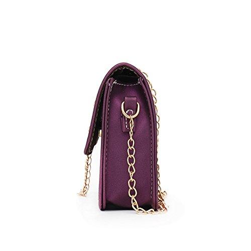 cuadrado recorrido Crossbody bolso de cadena Shoulder Lady Crossbody el de señora de la la de del Bolso moda Majome para 5Hqzpp