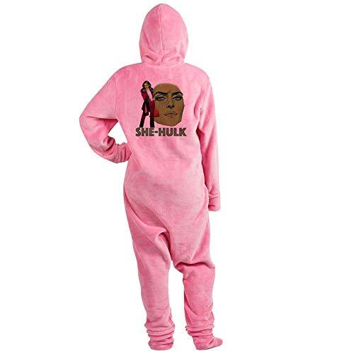 CafePress She Hulk Standing Novelty Footed Pajamas, Funny Adult One-Piece PJ Sleepwear Pink -