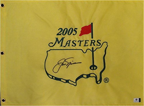 (Jack Nicklaus Hand Signed Autographed 2005 Masters Championship Flag GV)