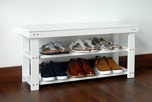 white-finish-2-tier-solid-wood-storage-shoe-bench-shelf