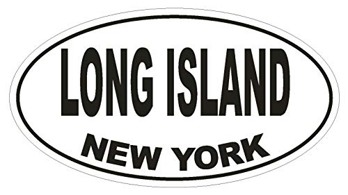 Magnet Long Island New York Oval Vinyl Magnetic Bumper Sticker Decal D1479 Euro Oval -
