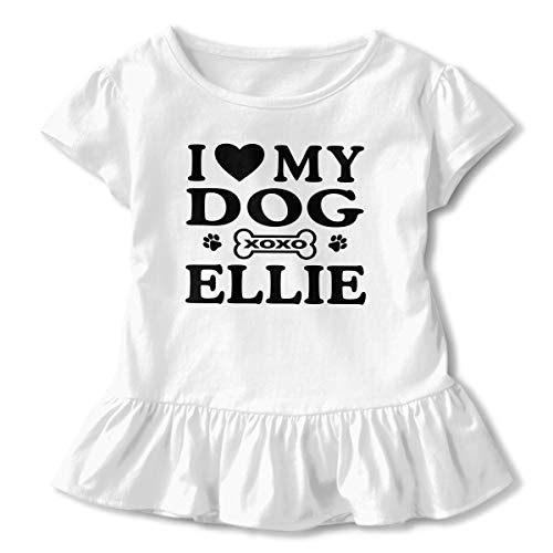Icing Charm Necklace - Baby Girl I Love My Dog Extra Soft Long Sleeved T Shirts