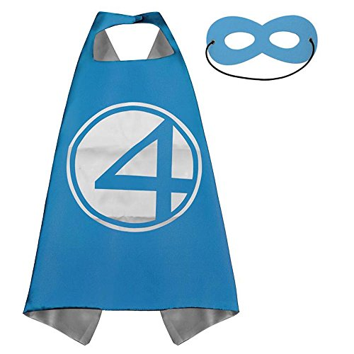 Four Years The Over Costumes Fantastic (Over 35+ Styles Superhero Halloween Party Cape and Mask Set for Kids (Fantastic)