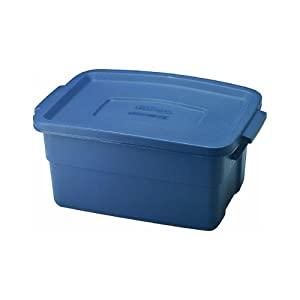 Rubbermaid 3 gallon roughneck storage box 10 3 for Garage totes 76