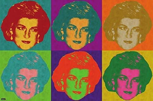 Amazon Com Lady Diana Pop Art Poster 24x36 Modern Art Print Home Decor Posters Prints