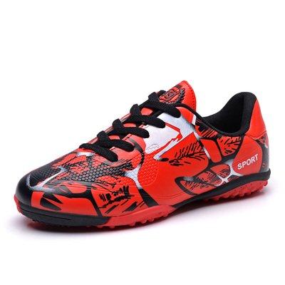 Xing Lin Botas De Fútbol Zapatos De Fútbol Estudiantil Clavos Rotos Los Niños Y Las Niñas Escolares Piso Antideslizante Zapatillas Deportivas Para Adultos 163-1 Red ()