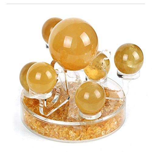 STARCHAO-001 Fengshui Money Drawing,Citrine Ball Seven Star Array,Citrine Stone,Feng Shui Decor.