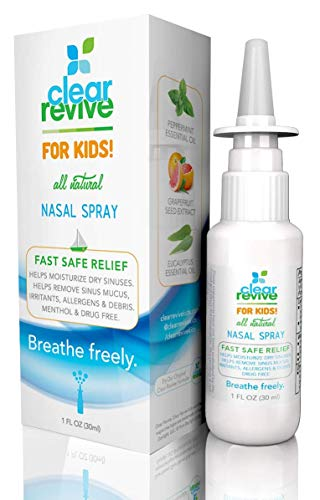 Natural Allergy Relief Children - Clear Revive for Kids - Natural, 24 Hour Fast Relief, Non-Drowsy Allergy Nasal and Sinus Spray