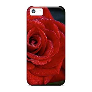 Diy iphone 5 5s case ENJOYCASE Perfect Tpu Case For iPhone 5 5S/ Anti-scratch Protector Case (rose With Dew)