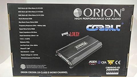 Orion CB2500.1D Cobalt Series Monoblock Class D 1-Ohm Amplifier (Amplifier Monoblock 5000 Watts)