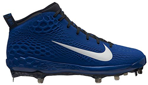 (Nike Men's Force Zoom Trout 5 Metal Baseball Cleats (10, Blue/White))