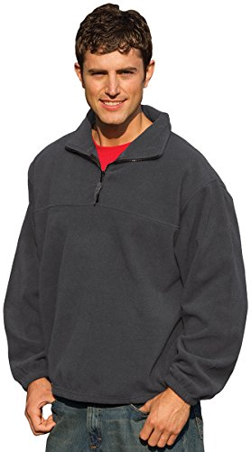 Inner Harbor Adult Poly Micro-Fleece 1/4-Zip Pullover (Charcoal) (L) Adult Micro Poly Pullover Jacket