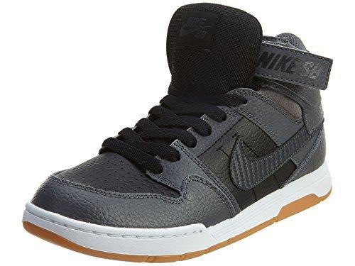 Price comparison product image NIKE Boy's Mogan Mid 2 JR Shoe,  black / anthracite-dark grey / white,  7 M US Big Kid