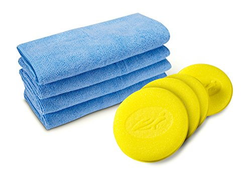 Turtle Wax 50749 Car Wax Accessory Kit (4 Microfiber Towels & 4 Foam Applicators)