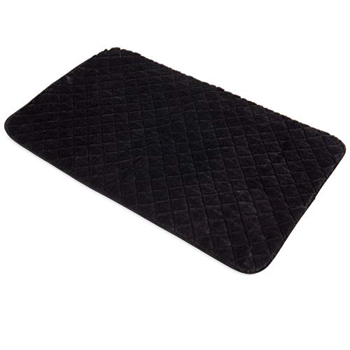 SNOOZZY BLACK 47X28 QUILTED ()